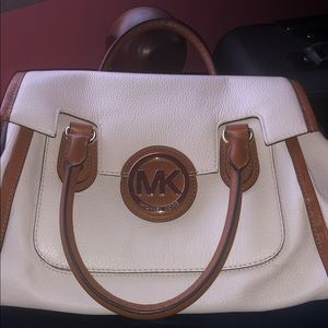 White and Brown Michael KORS satchel